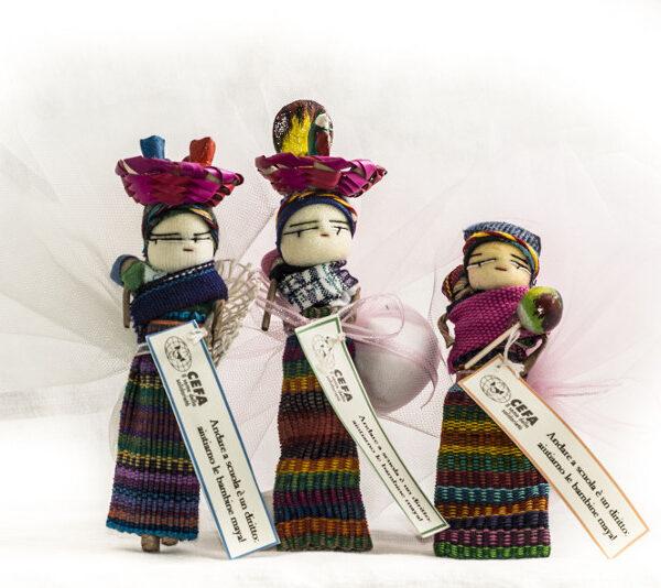Bamboline Guatemala bomboniere