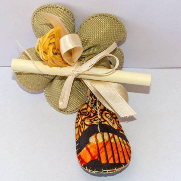 portachiavi scarpina eco bomboniera africana